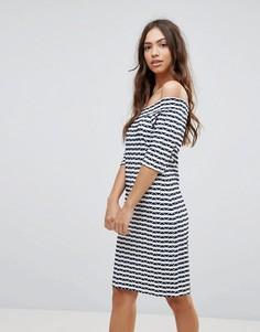 Платье в полоску с открытыми плечами Lavand - Мульти