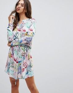 Платье-рубашка с пальмовым принтом Lavand - Мульти