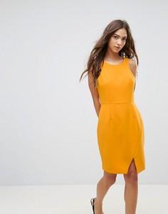 Асимметричное платье Lavand - Оранжевый