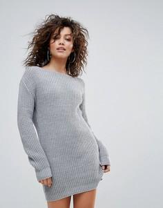 Серое трикотажное платье Lasula - Серый