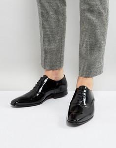 Черные блестящие оксфордские туфли PS by Paul Smith Starling - Черный
