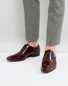 Бордовые оксфордские блестящие туфли PS by Paul Smith - Красный