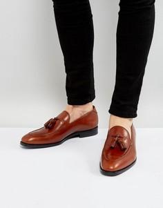 Светло-коричневые кожаные лоферы с кисточками PS by Paul Smith Elgin - Рыжий