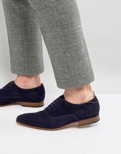 Темно-синие замшевые оксфордские туфли PS by Paul Smith - Темно-синий
