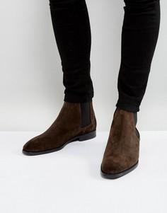 Коричневые замшевые ботинки челси PS by Paul Smith Gerald - Коричневый