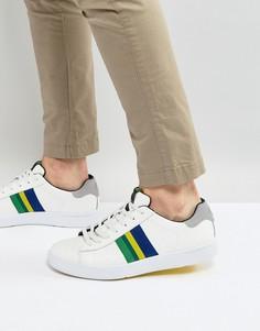 Белые кожаные кроссовки с полосками PS by Paul Smith - Белый