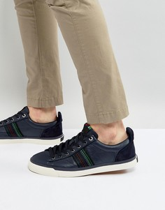 Темно-синие кожаные кроссовки в полоску PS by Paul Smith Seppo - Темно-синий