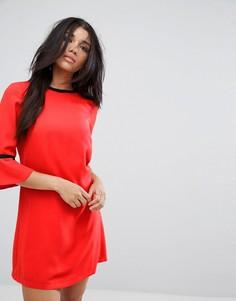 Платье-туника с рукавами из оборок Paper Dolls - Красный