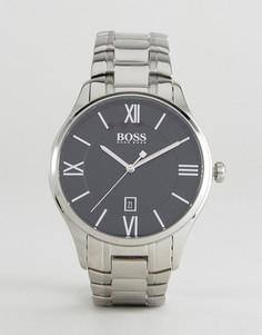 Серебристые наручные часы BOSS By Hugo Boss 1513488 Governor - Серебряный