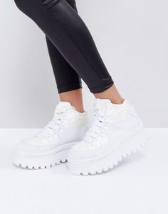 Белые кроссовки на платформе Jeffrey Campbell - Белый