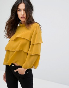 Блузка с оборкой QED London - Желтый