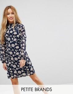 Платье-туника с высоким вырезом Yumi Petite - Темно-синий