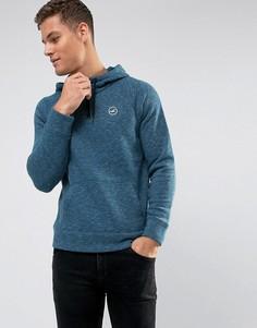 Темно-синий меланжевый худи с логотипом Hollister - Темно-синий