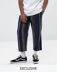 Свободные брюки в полоску Reclaimed Vintage Inspired - Синий