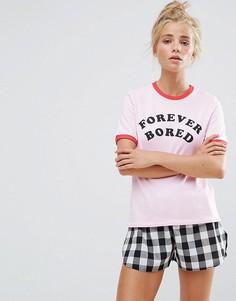 Пижамный комплект с шортами Adolescent Forever - Розовый