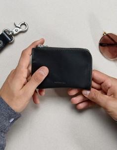 Кожаный бумажник Sandqvist Penny - Черный