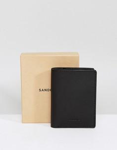 Черный бумажник Sandqvist Dow - Черный