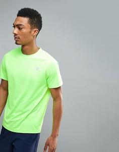 Зеленая футболка для бега New Balance Impact MT63223EGL - Зеленый