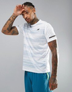 Белая футболка New Balance Running Max Intensity MT71047WCY - Белый
