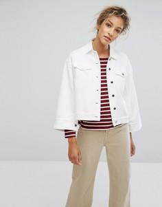 Свободная джинсовая куртка оверсайз Wood Wood Pauline - Белый