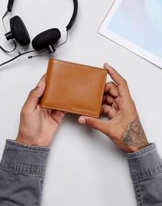 Светло-коричневый кожаный бумажник Forbes & Lewis - Коричневый