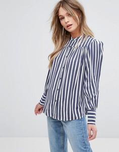Рубашка в полоску New Look - Синий