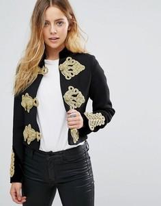 Укороченная куртка в стиле милитари Glamorous - Черный