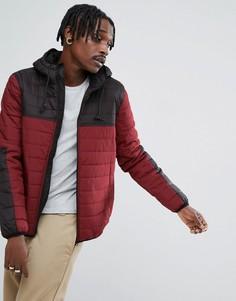 Красная с черным дутая куртка Element Alder - Красный