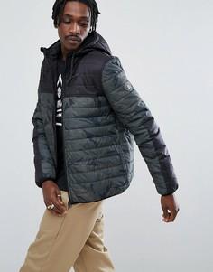 Дутая куртка с камуфляжным принтом Element Alder - Черный