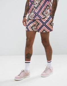 Розовые шорты с принтом цепочки Jaded London - Розовый