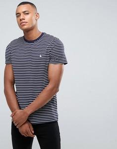 Темно-синяя футболка в бретонскую полоску из пике Jack Wills Clevedon - Темно-синий
