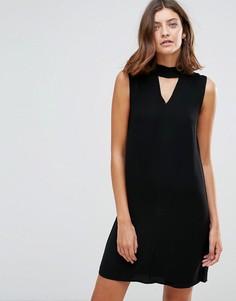 Свободное платье без рукавов Just Female - Черный