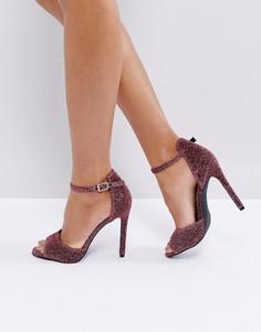 Босоножки на каблуке New Look - Розовый