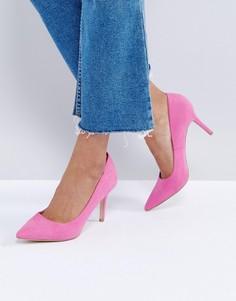 Туфли-лодочки в замшевом стиле New Look - Розовый