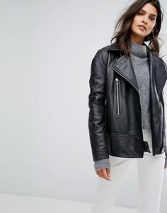 Свободная кожаная куртка Y.A.S - Черный