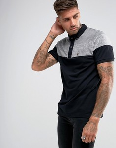 Черная футболка-поло с бархатом Luke Sport Mickey - Черный