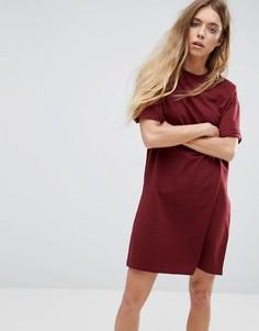 Платье-футболка с отворотами на рукавах ASOS Ultimate - Красный