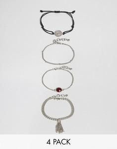 Набор браслетов Pieces - Серебряный