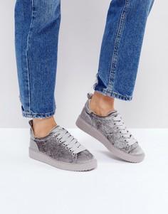 Бархатные кроссовки Dune - Серый