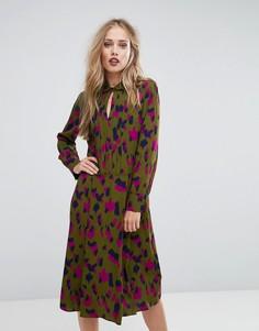 Камуфляжное платье-рубашка Max&Co Casato - Мульти