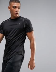 Черная спортивная футболка с логотипом на спине Ellesse - Черный