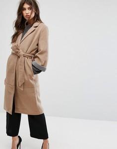 Пальто с рукавами 3/4 и ремнем Y.A.S - Рыжий