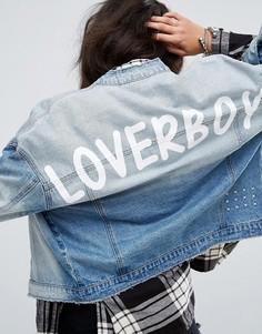 Джинсовая куртка с принтом Noisy May - Синий