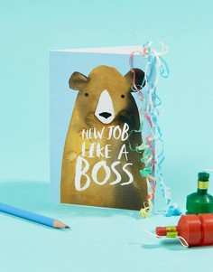 Открытка Like a Boss New Job Jolly Awesome - Мульти