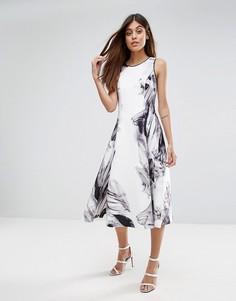 Приталенное платье с расклешенной юбкой Coast - Мульти