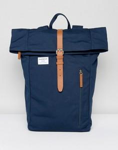 Темно-синий рюкзак с ролл-топом Sandqvist Dante - Темно-синий