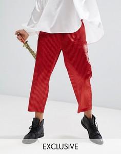 Свободные брюки в полоску Reclaimed Vintage HALLOWEEN Inspired - Красный