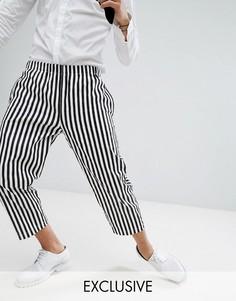 Свободные брюки в полоску Reclaimed Vintage HALLOWEEN Inspired - Черный