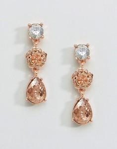 Серьги цвета розового золота с цветочной отделкой Coast - Розовый