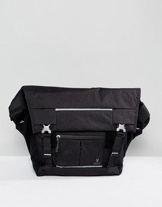 Черная сумка почтальона Doughnut Montreal - Черный